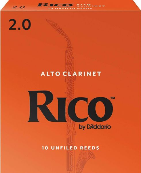 Rico 2.0 Strength Reeds for Alto Clarinet (Pack of 10) - RDA1020
